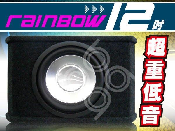 九九汽車音響【Rainbow】12吋車用超重低音+JL 專用擴大機.公司貨~全台各店~