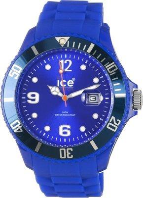 [永達利鐘錶 ] ICE watch 寶藍色膠帶日期錶SI.BE.B.S.09 原廠公司保固24個月 42mm