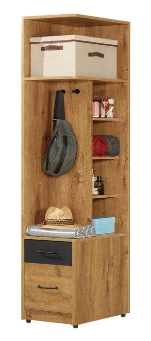 費利斯1.5尺二抽右桶收納櫃/角落櫃/牆角櫃😊暖暖屋傢俱傢飾😊