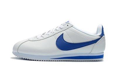 D-BOX NIKE Cortez Basic SL Gs 慢跑鞋 運動 白藍 阿甘鞋 皮革 休閒百搭