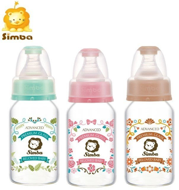 貝比的家-Simba  小獅王辛巴 蘿蔓晶鑽標準玻璃小奶瓶120ml-特價$129 & 店面經營
