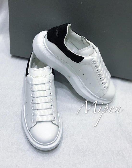 ☆名品寶庫☆ 全新 Alexander McQueen 白身x黑尾 休閒鞋 *現貨*☆#