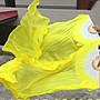 艾蜜莉舞蹈用品*肚皮舞真絲長綢扇/ 黃色長飄...