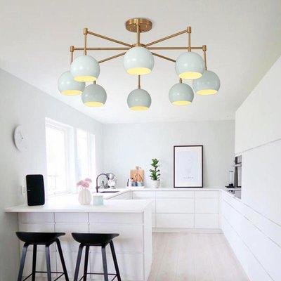 【德興生活館】簡約現代復古北歐創意個性燈具客廳餐廳臥室彩色馬卡龍鐵藝吊燈 限時促銷