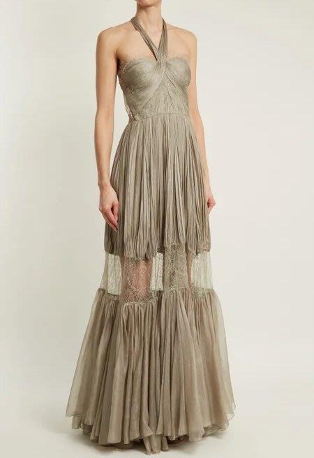 [我是寶琪] 關穎二手商品Maria Lucia Hohan 銀灰色洋裝
