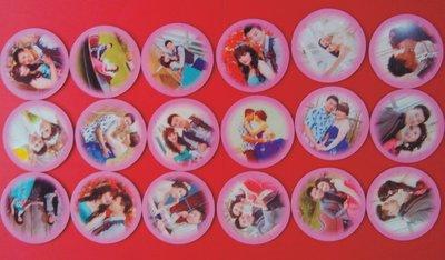 客製化圓形磁貼6.7公分 四個 、情侶磁貼,冰箱磁貼 , 磁鐵, 好友,