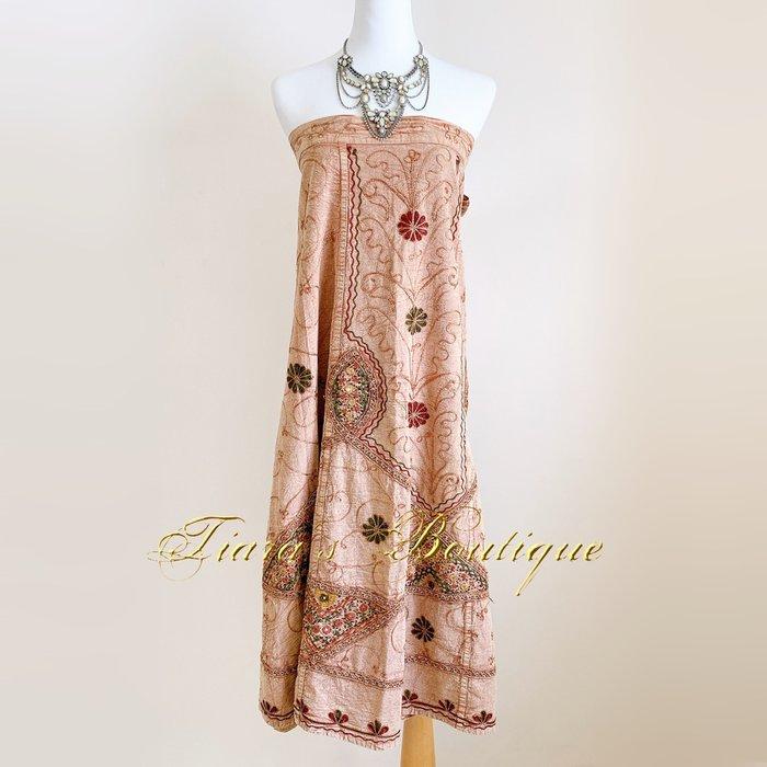 印度精緻手工刺繡裙/洋裝 一片裙 稀有 真正的波西米亞浪漫 民俗風 (394)
