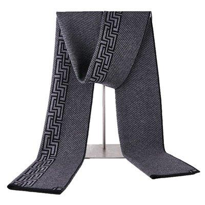 圍巾 羊毛 披肩-斜條紋幾何針織時尚男配件3色73wh5[獨家進口][米蘭精品]
