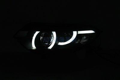 ~~ADT.車燈.車材~~FORD ECOSPORT 13 14 15 16 LED DRL 導光日行燈 魚眼黑底大燈組