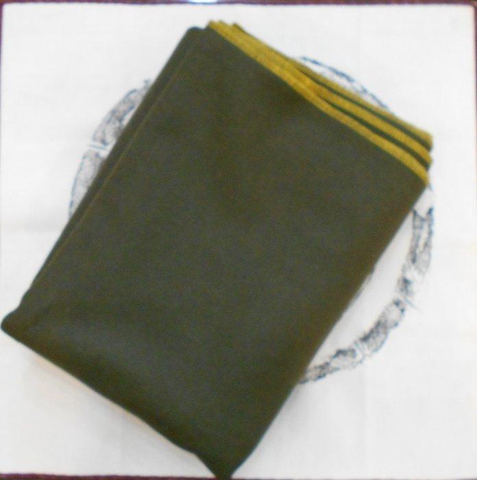 【麋研齋】橄欖綠純羊毛墊布 A1