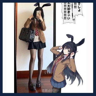 櫻島麻衣學姐黑絲jk制服夏季正版套裝全套日系甜辣裙短裙女夏辣妹