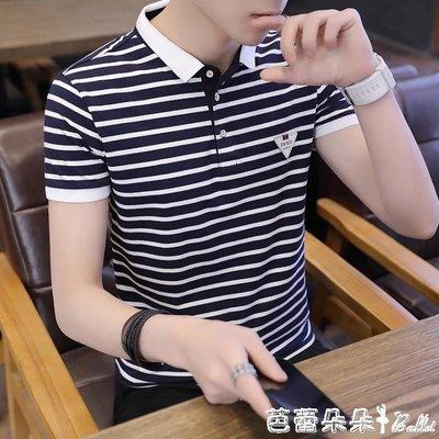 polo衫 短袖polo衫男 2019夏青年半截袖T恤正韓修身襯衫領潮流帥氣上衣服