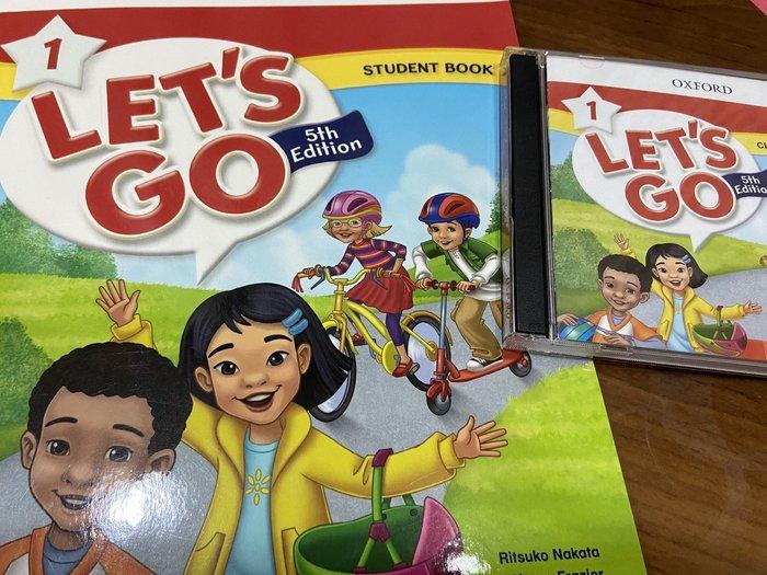 OXFORD Let's go 1 5th student book & CD 第5版 近全新 兒童英語教材 敦煌