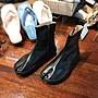 韓國代購 皮質拉鍊分趾短靴 忍者靴 夾腳短靴...