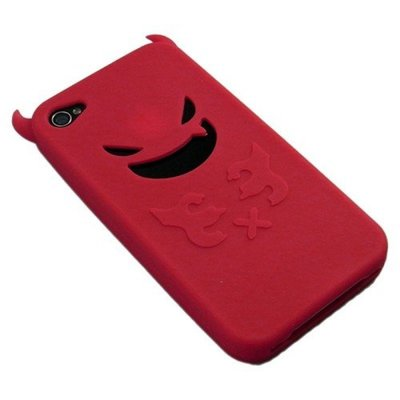 Silicon Case for iPhone4 硅膠套(Red)(包本地平郵)