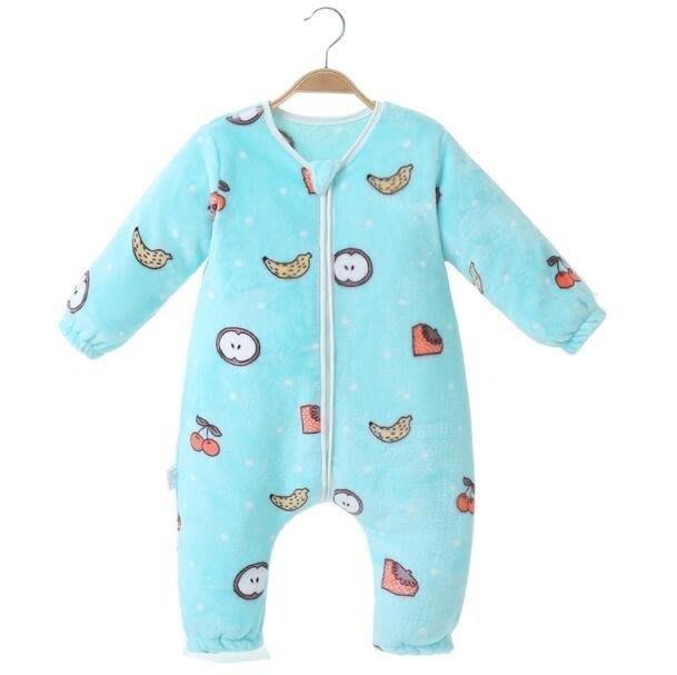 YEAHSHOP 嬰兒睡袋兒童秋冬季加厚法蘭絨連Y185