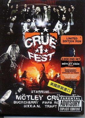 美版全新DVD~克魯小丑合唱團Motley Crue: Crue Fest 2008限量雙碟版~Digipak~下標就賣