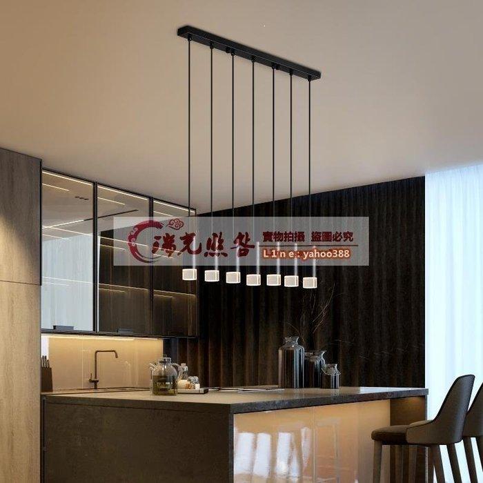 【美燈設】餐廳吊燈現代簡約創意飯桌吧臺三頭極簡商用辦公小單頭吊燈飾
