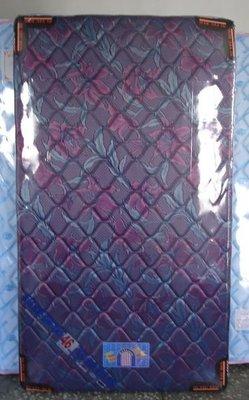 3.5尺超硬式鎢絲鋼線單人加大彈簧床墊可選花色台灣製造(台北縣市包送到府免運費)