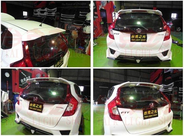 台克之光-HONDA-FIT3-空力套件-RS尾翼-ABS材質~含煞車燈