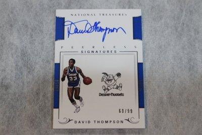 2017-18 大國寶 Peerless Auto David Thompson 限量99張簽名卡~名人堂球星