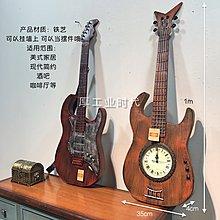 美式創意鐵藝吉他家居客廳書房裝飾品酒吧簡約牆面裝飾品壁飾挂件(2款可選)