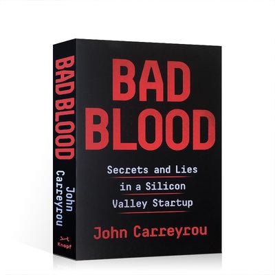 現貨 Bad Blood 滴血成金 英文原版 壞血:硅谷獨角獸的騙局 惡血 英文版 精裝 by John Carreyr