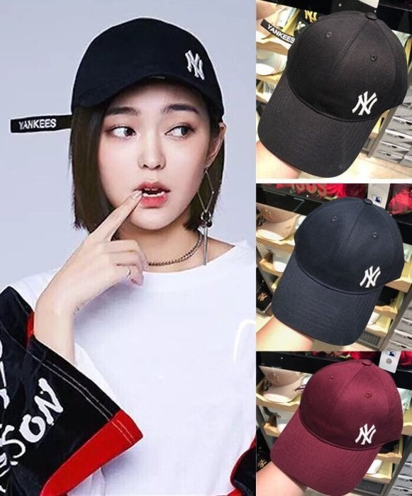 MLB 紐約洋基隊 TWICE代言棒球帽 軟頂飄帶小標