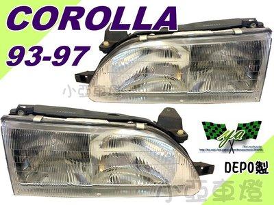 小亞車燈*全新 COROLLA 93 94 95 96 97 97 年 LLA93 原廠型 大燈 車燈 一顆1000 台南市