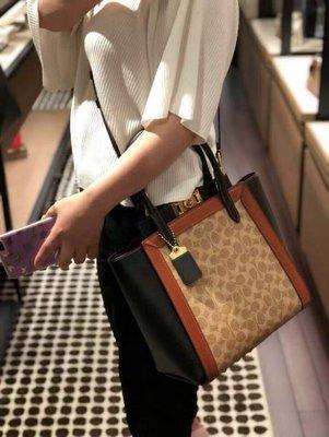 (Outlet特惠)COACH 78487 新款女士Troupe手提包 單肩斜挎包 托特包 附購買證明