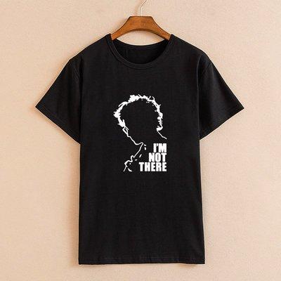 Bob Dylan鮑勃迪倫明星周邊同款 男士純棉短袖T恤 I am not there