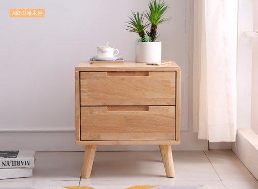 GT精琢傢俱先生 北歐風格床頭櫃 原木色 北歐風 泰國進口橡膠木 簡約生活 精工細節  40X45X50(含腳高)cm