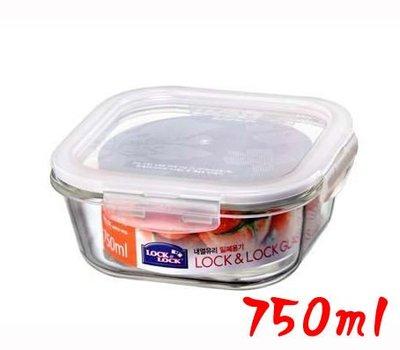 省錢工坊-LOCK&LOCK/樂扣/微波烤箱玻璃保鮮盒/保鮮盒/玻璃保鮮盒/750ml/LLG224/另有圓形長型