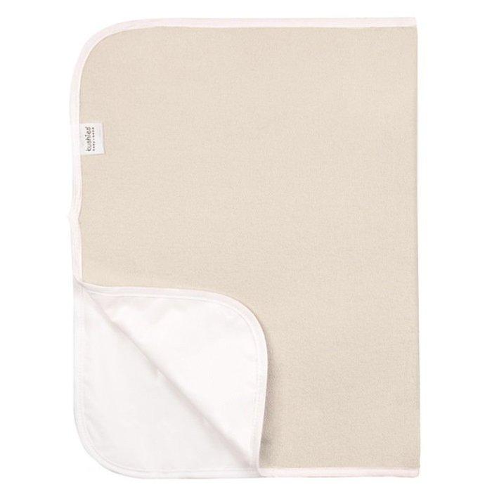 【兔寶寶部屋】kushies加拿大進口-純棉防水保潔墊-淺黃色 51 x 76 cm