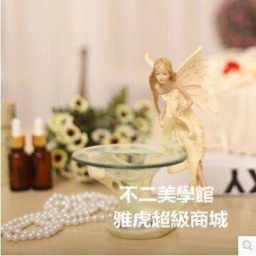 【格倫雅】歐式美女天使蠟燭香薰燈精油燈香薰爐臥室擺件生日禮品50303[g-l-y46