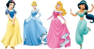 公主燙貼-迪士尼公主系列--防水彩色授權姓名貼紙.燙布貼~1.3*3cm...可燙在衣服上