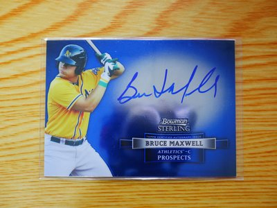 Bruce Maxwell 2012 Bowman Sterling Autograph 新人簽名卡 RC