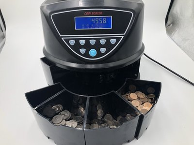 550-4B分幣機(液晶螢幕LCD有背光 一目了然)(螢幕直接顯示各幣數量及總和)(免運)數幣機/點幣機/分幣機/硬幣機