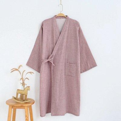日式和服日式紗布起居服 全棉男士睡袍純棉紗布和服睡衣浴袍簡社無印良品哆啦A珍