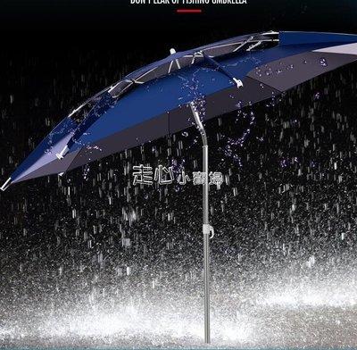 戶外釣魚傘防雨2.2米加厚黑膠2.4米...