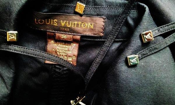 LV 深黑色拉鍊式襯衫