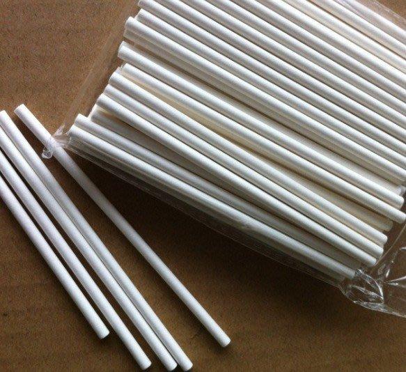 *水蘋果*K-035 棒棒糖紙棒15cm直徑4mm-100根入 可進烤箱 蛋糕棒棒球棒子 婚禮小物 DIY材料