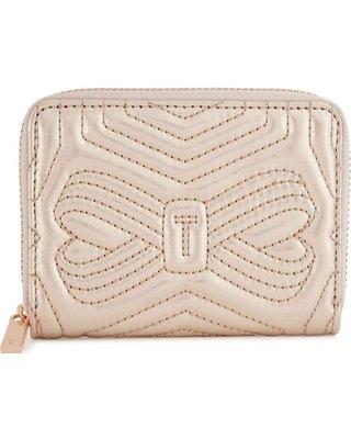英國TED BAKER Romma quilted leather purse 皮質零錢包(金色)(預購)