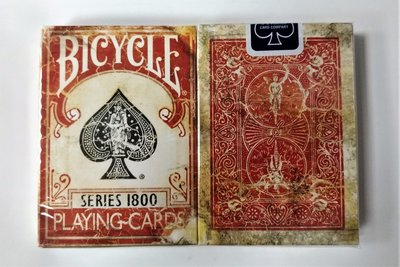 【USPCC 撲克】Marked 1800 playing cards (藍封標) 紅色