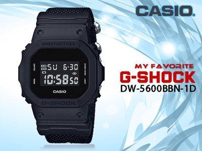 CASIO 卡西歐 手錶專賣店 時計屋 G-SHOCK DW-5600BBN-1DR 男錶 電子錶 耐衝擊構造 防水 L