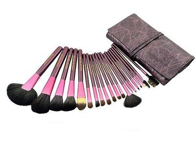 【愛來客 】紫色高質感20件彩妝刷具組...