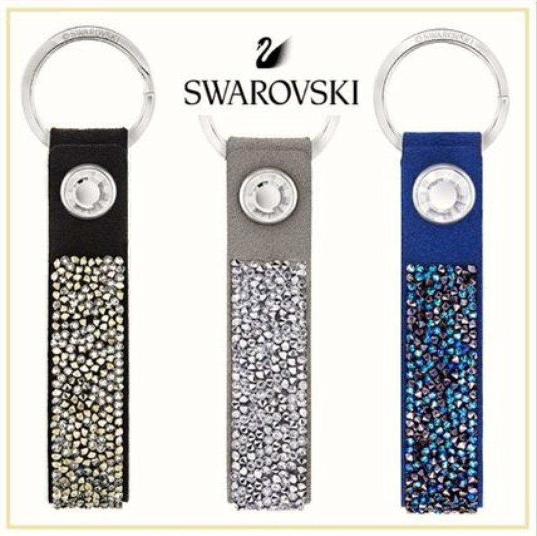 Swarovski 施華洛世奇 吊飾 鑰匙圈 黑色 單入