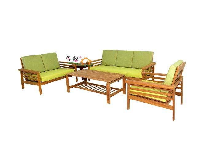 幸福家傢俱 古典柚木沙發 ( CLARA SOFA ),含坐墊, 全實木,全柚木,柚木家俱