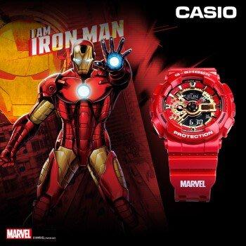 賣家推薦 Casio 卡西歐手錶 G-SHOCK GA-110IRONMAN-4PR 漫威 鋼鐵人 紅金 復仇者聯盟 台北市