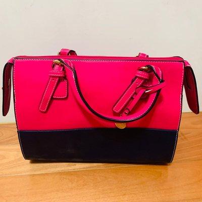 全新正品L'CREDI手提包 斜背包 粉紅色